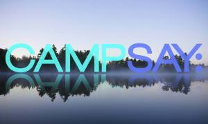 the logo for camp SAY