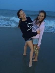 girls on beach
