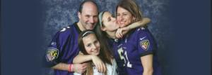 ravens family pic sophie kisses debbie